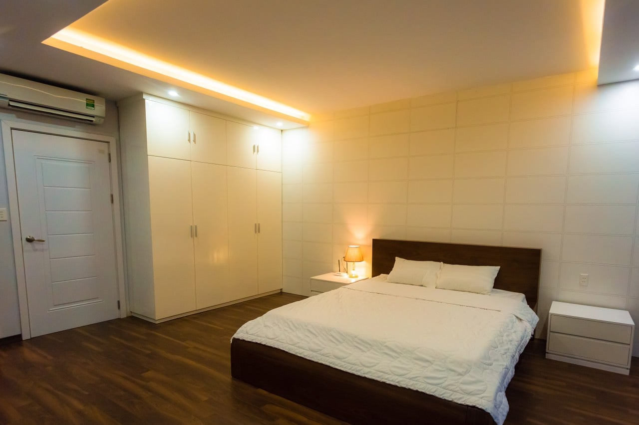 phòng ngủ tại greenbay villa homestay hạ long