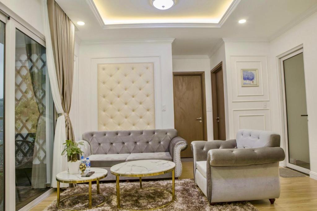 Không gian phòng khách của Luxury homestay 3 ngủ