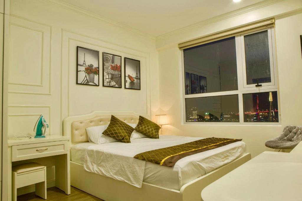 phòng ngủ của căn hộ Luxury homestay 3 ngu