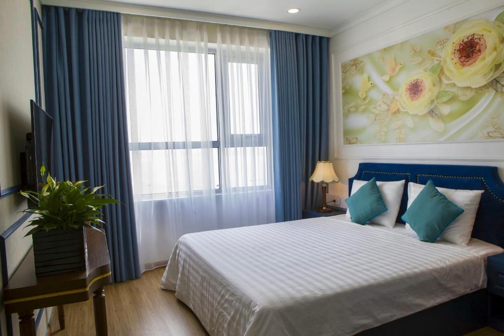 phòng ngủ của homestay luxury 2 ngủ