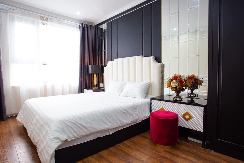 phòng ngủ sang trọng cuả aqua homestay hạ long