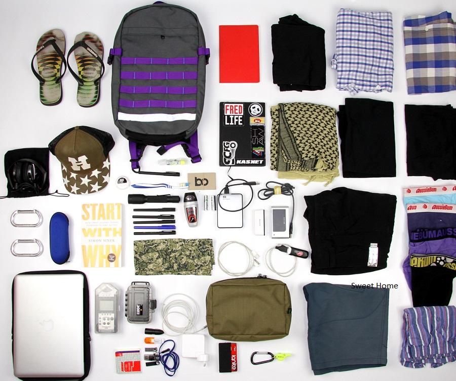 vật dụng cần thiết khi đi du lịch