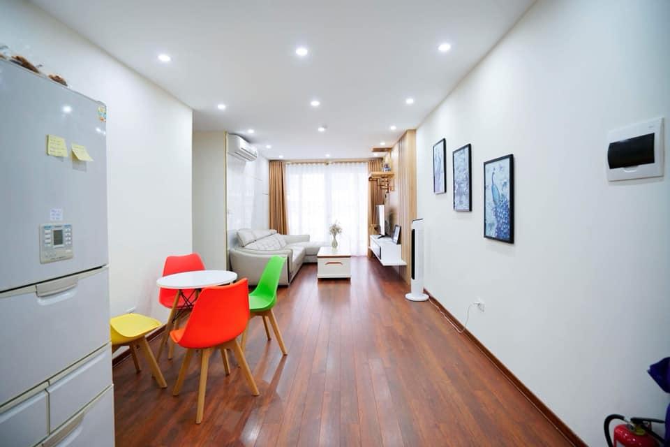 Không gian căn phòng hộ homestay 709 Newlife tower