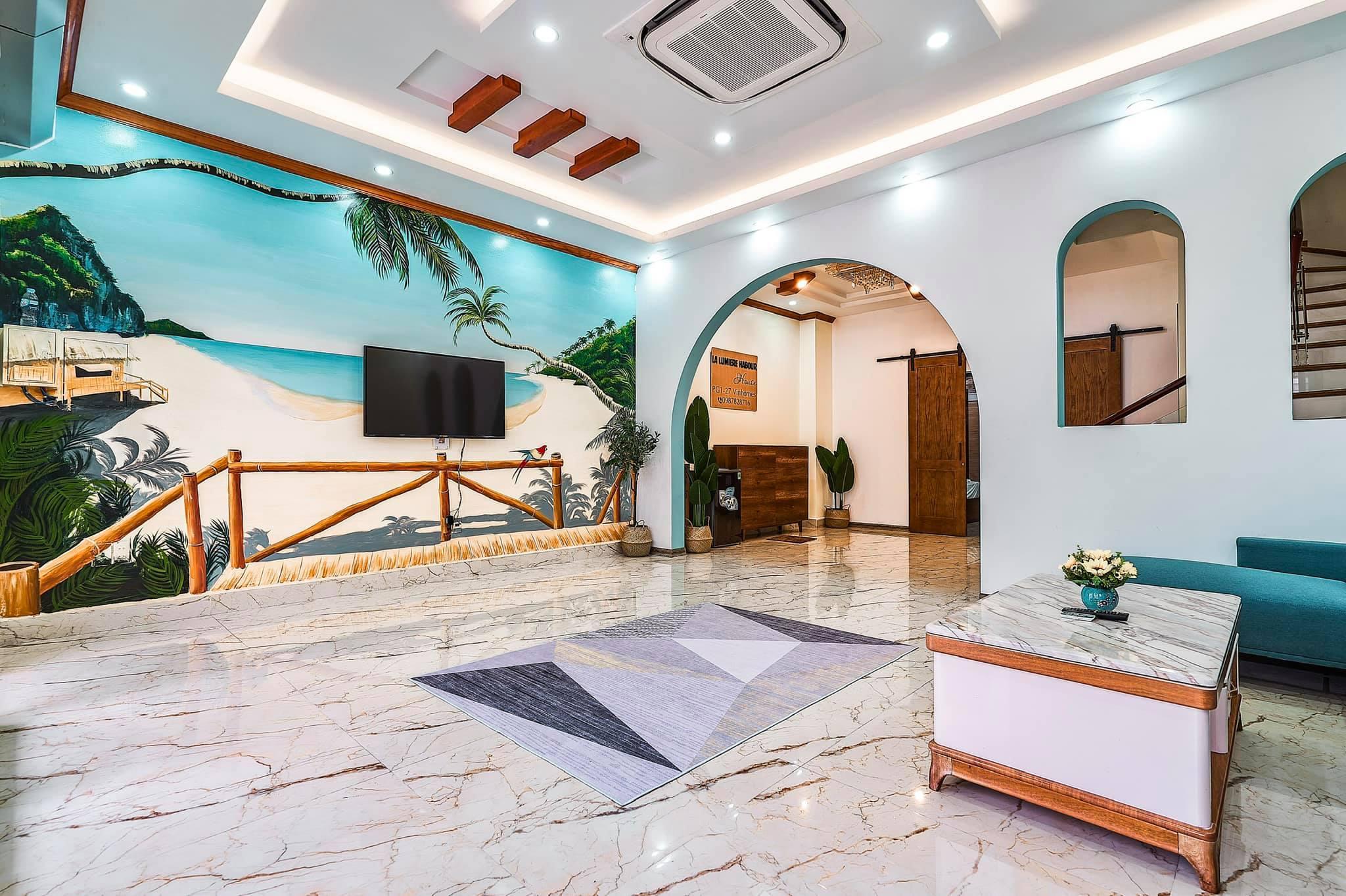 Phong khach tại Villa Mercerus