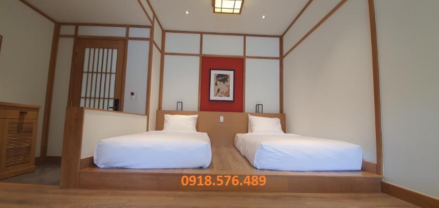 giường ngủ của villa bàn trang điểm phòng cách nhật của Washitsu Itachi Onsen quang hanh