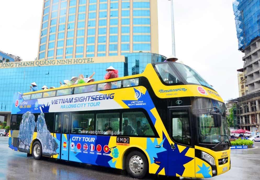 xe bus 2 tầng hạ long